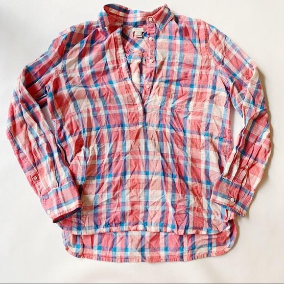 J. Crew Factory Tops - 3 FOR $15 J. CREW Plaid Popover Shirt XS